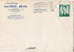 1960 1 Plikart(en) - Postkaart(en) - Zie Zegels, Stempels, Hoofding JEAN DELAFORTIE Fils Verviers - - Covers & Documents