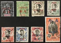 Canton Bureau Indochine 1 5 50 53 54 57 78 79 (°) Obl Colonies Françaises (côte 20 Euros) – Amscol2 - Oblitérés
