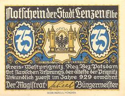 6 Verschiedene Notgeldscheine Von Lentzen/Elbe VF/F (III) - [11] Local Banknote Issues