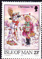 Isle Of Man - Weihnachten (MiNr: 565) 1993 - Gest Used Obl - Isola Di Man