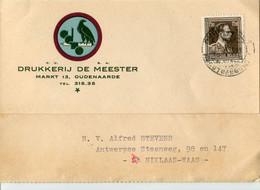 1953 1 Plikart(en) - Postkaart(en) - Zie Zegels, Stempels, Hoofding DRUKKERIJ DE MEESTER Markt 13 Oudenaarde - Vogel !! - Covers & Documents