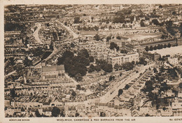 Unused C1920 Aerofilms RP Card Woolwich Cambridge & Red Barracks From The Air - London Suburbs
