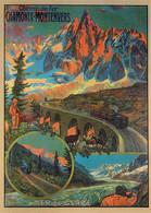 Publicite - Chemin De Fer Chamonix-Montenvers - La Mer De Glace (1913 M.) Et Le Train à Crémaillière Du Montenvers - Ill - Publicidad