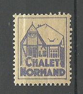 FRANCE Chalet Normand Poster Stamp Vignette * - Otros