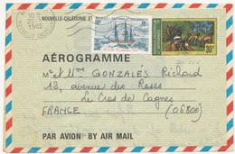Nouvelle Calédonie - Aérogramme 30F Avec Complément Affranchissement 10F De Nouméa Pour La France Le 29/1/1982 - Storia Postale