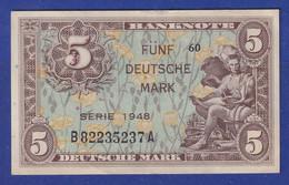 Banknote Deutschland  5 DEUTSCHE MARK SERIE 1948  #60 Leicht Gebraucht - Sin Clasificación