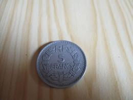 France - 5 Francs Lavrillier 1948 Alu.N°1881. - J. 5 Franchi