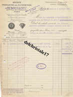 69 0074 ST-FONS - 1925 STÉ FRANÇAISE DES GLYCÉRINES À DYNAMITE : MARQUE LAFOUDRE CHIMIQUEMENT PURES - 1900 – 1949