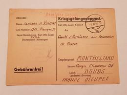Carte Prisonnier De Guerre Oflag XVIII A Leibnitz 1942 - 1939-45