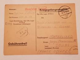 Carte Prisonnier De Guerre Oflag XVIII A Leibnitz 1943 - 1939-45