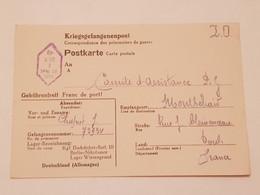 Carte Prisonnier De Guerre Kfg Dachdecker Batl III Berlin - 1939-45