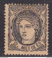 ESPAÑA 1870 - Matrona Sello Nuevo Con Fijasellos 2 M. Edifil Nº 103 -MH- - Ungebraucht