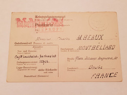 Carte Prisonnier De Guerre Oflag XVII A Doellersheim Goepfritz 1944 - 1939-45