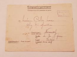 Carte Prisonnier De Guerre Front Stalag 211 F Nomexy Vosges 1940 Saarburg - 1939-45