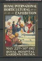 ENGLAND Great Britain Royal Intern. Horticultural Exhibition Chelsea Vignette Advertising Stamp * - Cinderellas