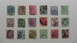 Grande-Bretagne (ex-colonies & Protectorats) > Inde Anglaise  :18 Timbres Oblitérés - Unclassified