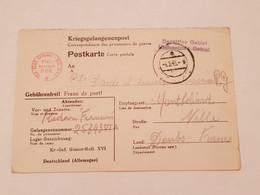 Carte Prisonnier De Guerre Kr Gef Giaser Batl XVI 1943 - 1939-45