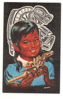"""Postcard 1960's Unused Native American """"Young Girl"""" See Description - Andere"""