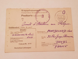 Carte Prisonnier De Guerre Feldpost Nr 16767 1942 - 1939-45