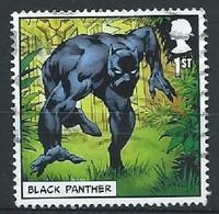 GROSSBRITANNIEN GRANDE BRETAGNE GB  2019 MARVEL COMICS: BLACK PANTHER 1st USED SG 4190 MI 4345 YT 4757 SC 3828 - Gebruikt