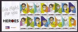 Filippine Philippines Philippinen Pilipinas 2020 Frontline HEROES Coronavirus Covid 19 - Sheetlet Of 16 - MNH** - Philippines