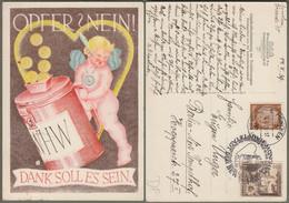 """Deutsches Reich: Sonderkarte Mit Mi-Nr. 675 SST, """" Winterhilfswerk1939: - Gaustraßensammlung - """" !     X - Storia Postale"""