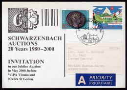 Suisse - 2000 - Lettre - Envoyé En Argentinien - A1RR2 - Cartas