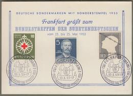 """Bund: Sonderkarte Mi.-Nr. 164, 165, U. Berlin  92 SST: """" Bundestreffen Der Sudetendeutschen 1953 """" !      X - Storia Postale"""