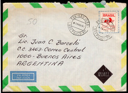 Brasil - 1991 - Lettre - Envoyé En Argentine - A1RR2 - Cartas