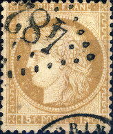 "FRANCE - 1873 Yv.55 15c Obl. GC ""4827"" St-CYR-S-MORIN (ind.11) - TB - 1871-1875 Cérès"