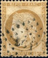 """FRANCE - 1873 Yv.55 15c Obl. """" LC 1° """" (Ambulant Lille à Calais) - TB - 1871-1875 Ceres"""