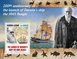 Sierra Leone 2020     Launch Of Darwin's Ship The HMS Beagle  S202009 - Sierra Leone (1961-...)