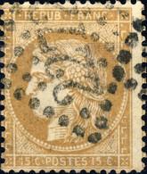 FRANCE - 1871 Yv.59 15c Bistre Obl. GC 2272 (MAUBEUGE) - TB - 1871-1875 Cérès