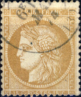 FRANCE - 1871 Yv.59 15c Bistre Oblitéré TB (a) - 1871-1875 Cérès
