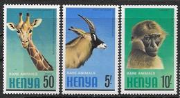 Kenya 1981   Sc#199, 201-2 Rare Animals  MNH  2016 Scott Value $5.25 - Kenya (1963-...)