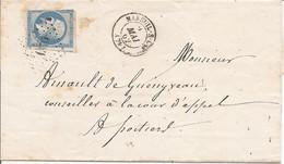 VENDEE (79) LSC De MAREUIL-S-LAY  PC 1876 Sur NAP Pour POITIERS + AMBULANT - 1849-1876: Classic Period