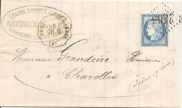 ALLIER (3) LAC De DOMPIERRE-S-BEBRE OBLI GC 2565 Sur CERES + CONVOYEUR STATION DOMPIERRE-S-BEBRE Pour CHAROLLES - 1849-1876: Classic Period
