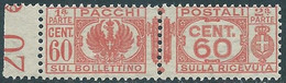 1927-32 REGNO PACCHI POSTALI 60 CENT MNH ** - CZ19-3 - Paketmarken