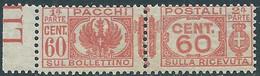 1927-32 REGNO PACCHI POSTALI 60 CENT MNH ** - CZ22-2 - Paketmarken