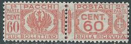 1927-32 REGNO PACCHI POSTALI 60 CENT MNH ** - CZ22-4 - Paketmarken