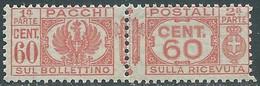 1927-32 REGNO PACCHI POSTALI 60 CENT MNH ** - CZ22-6 - Paketmarken