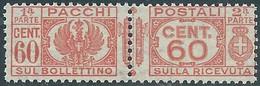 1927-32 REGNO PACCHI POSTALI 60 CENT MNH ** - CZ22-9 - Paketmarken