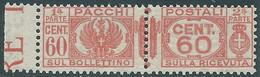 1927-32 REGNO PACCHI POSTALI 60 CENT MNH ** - CZ22-10 - Paketmarken