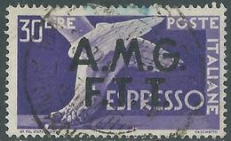 1947-48 TRIESTE A USATO ESPRESSO 30 LIRE - CZ34-5 - Correo Urgente