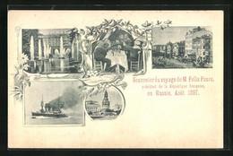 CPA Voyage De M. Felix Faure, President De La Republique Francais, En Russie, Aout 1897, Boulevard, Fontaine, Monument - Politicians & Soldiers