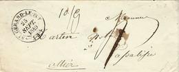 1849- Enveloppe De ST GERAND-LE - PUY ( Aller ) Cad T14 Taxe 4 D  Pour La Palisse - 1849-1876: Klassieke Periode