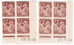 2f Iris Yvert 653, Paire A+B Du 23-10-44, ** - 1940-1949