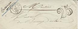 1853- Lettre De St POURCAIN ( Allier ) Cad T15  Taxe 25 Dt - 1849-1876: Classic Period