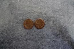 Lot De 2 Piéces De 1 Centime En Bronze Daniel-Dupuis De 1911 - 1912 - En TTB - - A. 1 Centime