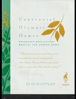 USA Brochure 1996 Atlanta Olympic Games - Volunteer Application Booklet And Answer Sheet (H59M) - Estate 1996: Atlanta